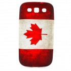 Retro Canada National Flag Pattern Protective TPU Case for Samsung i9300 - Red + White
