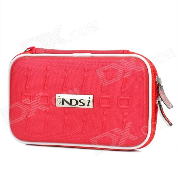Project Design Stripe Pattern Protective Fabric Pouch w/ Strap for Nintendo DSi - Red