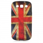 Retro UK National Flag Pattern Protective TPU Case for Samsung i9300 - Red + Yellow + Blue
