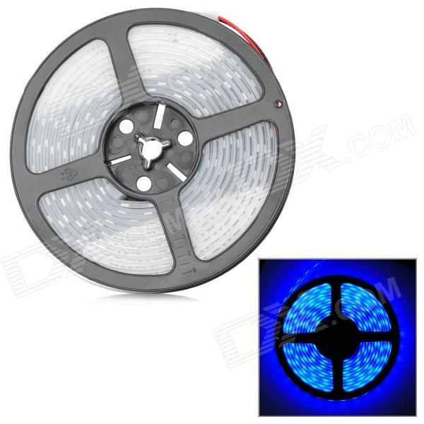72W 2700lm 300-5050 SMD LED Blue Light Flexible Strip w/ Waterproof Silicone Sleeve (DC 12V / 5m) zdm waterproof 72w 200lm 470nm 300 smd 5050 led blue light strip white grey dc 12v 5m