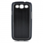 Protective Aluminum + PC Case for Samsung i9300 Galaxy S3 - Black
