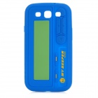 Retro Beeper Style Protective Silicone Case for Samsung i9300 Galaxy S3 - Blue