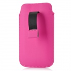 Protective PU Leather Sleeve Case Pouch for Samsung I9300 - Deep Pink