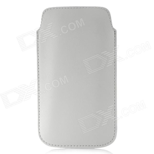 Protective PU Leather Sleeve Case Pouch for Samsung I9300 - White