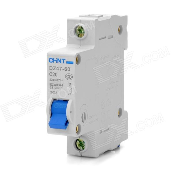 CHNT DZ47 1P 20A MCB Miniature Circuit Breaker (C Type) 10pdz47 60 c16 ac230 400v1p16a rated current 1 pole miniature circuit breaker qc