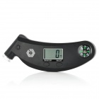 "TG-0300 1.0"" LCD Digital Tire Pressure Gauge with Compass - Black"