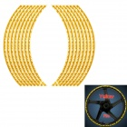"D12072808X Reflective Sticker for 16""~18"" Car Tire - Golden (2 PCS)"