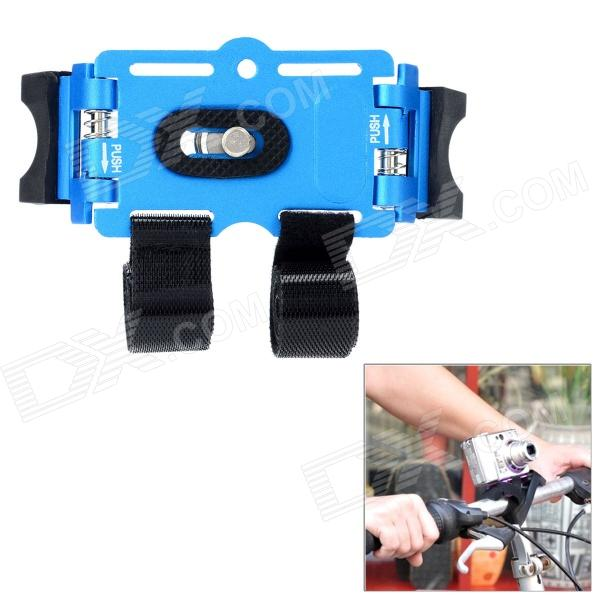 Bicycle Bike Aluminum Alloy Mount Holder for Digital Camera / Mini DV - Blue bicycle bike plastic mount holder for digital camera mini dv orange black