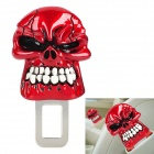 Cool Safety Skull Style Seat Belt Buckle Latches - White + Red