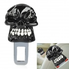 Skull Style Universal Car Seat Belt Buckle Latch - Black + White