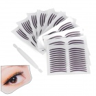 Cosmetic Double Eyelid Sticker / Eyeliner Sticker - White + Black (10 PCS)