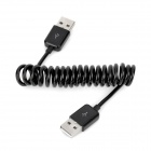 USB Male to USB Male Flexible Data Cable - Black