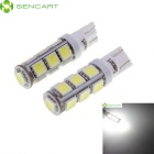 SENCART T10 6.5W 546~598lm 7200K 13-5060 SMD LED White Light Car Lamps - White (2 PCS)