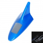 Solar Powered Shark Fin Style Safety Alarm 6-LED Flash Anti Rear-End Warning Light - Blue