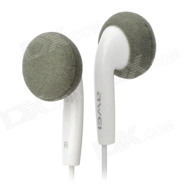 Awei Stylish Earphone for Cell Phone / MP3 / MP4 - White (3.5mm Jack)