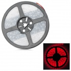 72W 3150lm 300-5050 SMD LED Red Light Flexible Strip w/ Waterproof Silicone Sleeve (DC 12V / 5m)
