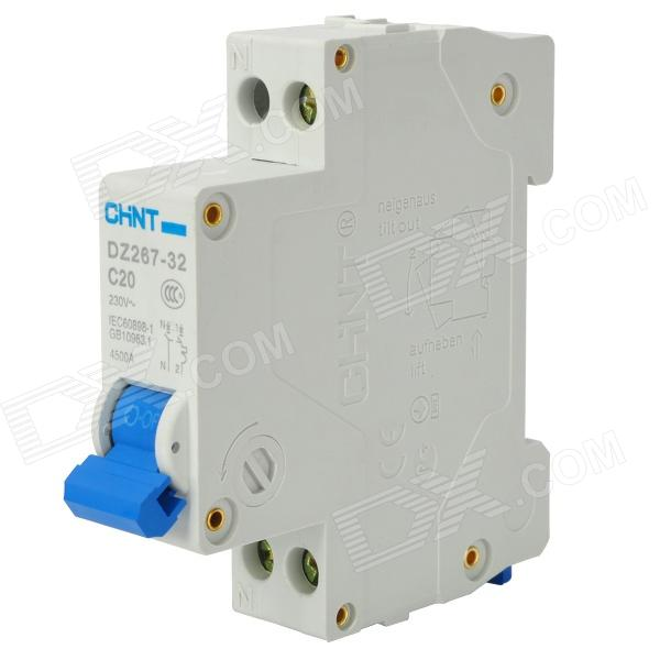 CHINT DZ267 20A Dual-Line 2-in 2-out Circuit Breaker Air Switch - White + Blue от DX.com INT