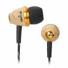 Awei Stylish In-Ear Earphone for Iphone / Cell Phone / MP3 / MP4 - Wood Color (3.5mm Jack)