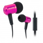 ES100I Stilvolle 3.5mm Stereo-In-Ear-Ohrhörer w / Mikrofon - Deep Pink