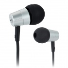 ES-Q7 Stylish 3.5mm Stereo In-Ear Earphone - Silver + Black