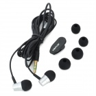 ES-Q7 Stylish 3.5mm Stereo In-Ear Earphone - Prata + Preto