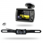 "Wireless Rear View Back Up IR Camera System w/ 3.5"" Digital Color LCD Monitor"