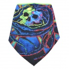 Cool Skull Pattern Polyester Fiber Cycling Mask - Black + Blue + Green