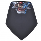 Cool Monster Pattern Polyester Fiber Cycling Mask - Black + Blue + Red
