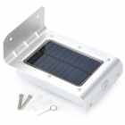 ICUBOT L1 Solar Powered IR Sensor Motion Activated 16-LED White Light Lamp - White + Silver