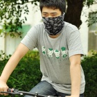 Multifunction Outdoor Sports Bicycle Cycling Seamless Head Scarf - Black + Grey