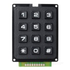 DIY 3 x 4 12-Key Numeric Keypad - Black