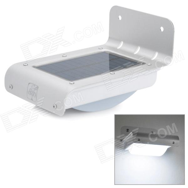 ICUBOT L2 Solar Powered Sound Activated 16-LED White Light Lamp - White + Silver