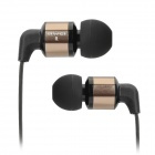 Awei Stylish In-Ear Earphone w/ Microphone for Cell Phone / MP3 / MP4 - Coffee + Black