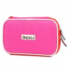 Project Design Stripe Pattern Protective Fabric Pouch w/ Strap for Nintendo DSi - Deep Pink