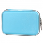 Project Design Flower Pattern Protective Artificial Leather Pouch for Nintendo DSi XL - Light Blue
