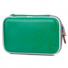 Protective Artificial Leather + Fabric Pouch for Nintendo DSi XL / DSi LL - Green