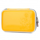 Project Design Flower Pattern Protective Artificial Leather Pouch for Nintendo DSi XL - Yellow