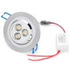 Buy INHIDA IHD-C03A023W.W 3W 260lm 3500K 3-LED White Light Ceiling Lamp - Silver (86~265V)