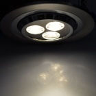 INHIDA IHD-C03A023W.W 3W 260lm 3500K 3-LED White Light Ceiling Lamp - Silver (86~265V)