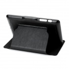 Protective PU Leather Flip-Open Case w/ Holder for Google Nexus 7 - Black