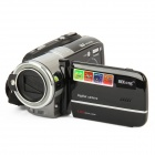 "HD-S-108 3.0"" TFT LCD 5.0MP CMOS Digital Camera Camcorder w/ 16X Digital Zoom / TF / SD - Black"