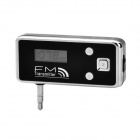 3.5mm Plug Car FM Transmitter for iPhone 3G / 3GS / 4 / 4S / iPad - Black (Micro USB)