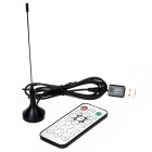 Mini DVB-T MPEG-4 Digital TV USB 2.0 Dongle w / Remote Controller - Schwarz