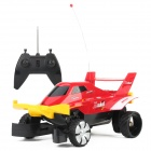 6682 Water / Land 2-Channel Remote Control Racing Car w/ EU Plug Adapter - Red