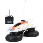 6681 Water / Land 2-Channel Wireless Remote Control Racing Boat - White