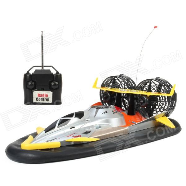 6680 Water / Land 2-Channel Wireless Remote Control Hovercraft - Silver + Orange