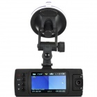 "2.7"" TFT Dual-Lens 5.0MP HD 1080P Wide Angle Car DVR Camcorder w/ 8-IR LED / HDMI / AV / TF - Black"