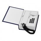 Creative Book Shaped Wired Telephone - Deep Blue