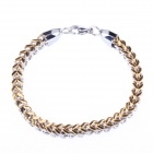 316L Gothic Hawaii Stainless Steel Bracelet - Silver + Golden