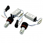 Car 10W 750lm 6000K 4-LED White Light Headlamps for BMW E92 / E93 / E70 / H8 (DC 6~24V / Pair)